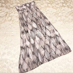 Cynthia Rowley | Grey Purple Maxi Skirt Size Small